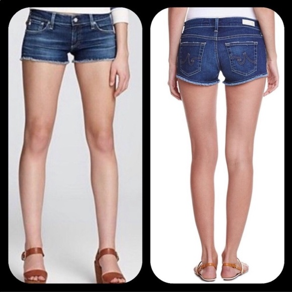 Ag Adriano Goldschmied Pants - AG the Daisy super low rise shorts